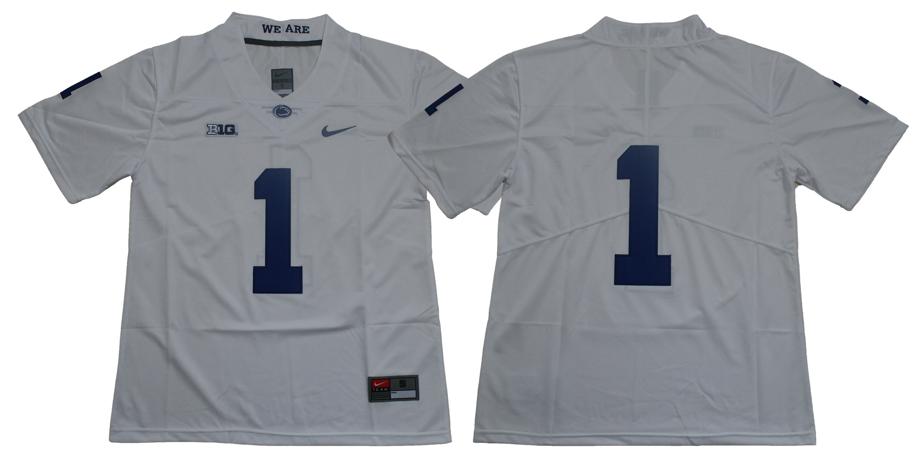 Penn State Nittany Lions #1 White Nike College Football Jersey