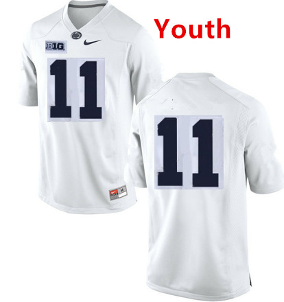 Penn State Nittany Lions #11 Micah Parsons White jersey Without name