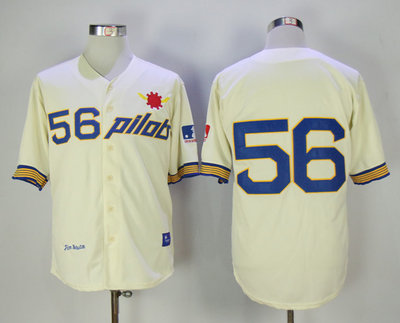 Pilots 56 Jim Bouton Cream Throwback Jersey