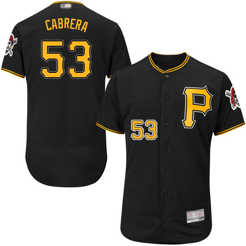 Pirates #53 Melky Cabrera Black Flexbase Authentic Collection Stitched Baseball Jersey