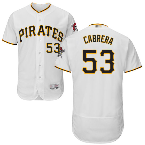 Pirates #53 Melky Cabrera White Flexbase Authentic Collection Stitched Baseball Jersey