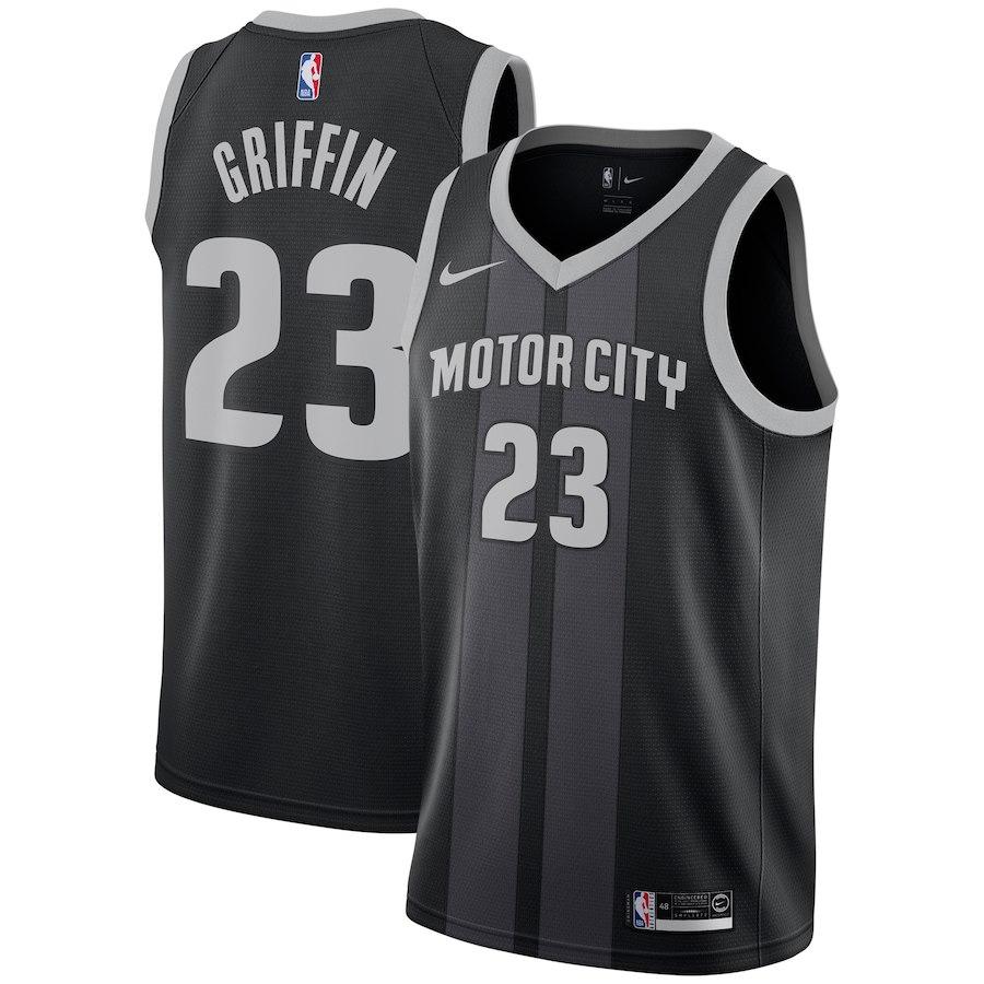 Pistons 23 Blake Griffin Black 2018-19 City Edition Nike Swingman Jersey