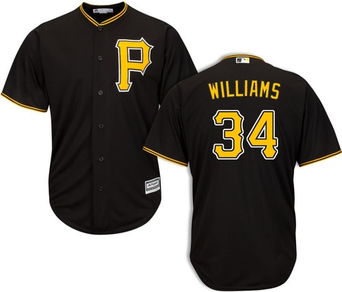 Pittsburgh Pirates #34 Trevor Williams Black Cool Base Jersey