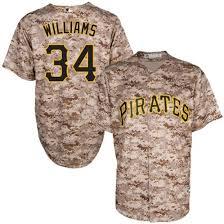 Pittsburgh Pirates #34 Trevor Williams Camo Flexbase Jersey