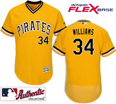 Pittsburgh Pirates #34 Trevor Williams Gold Flexbase Jersey