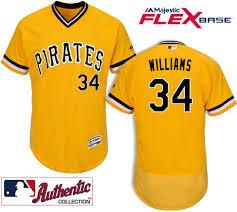 Pittsburgh Pirates #34 Trevor Williams Gold Flexbase Jersey