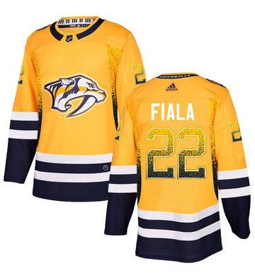 Predators 22 Kevin Fiala Gold Drift Fashion Adidas Jersey