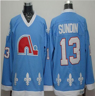 Quebec Nordiques #13 Mats Sundin Light Blue CCM Throwback Stitched NHL Jersey