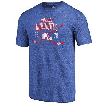 Quebec Nordiques Fanatics Branded Royal Vintage Collection Line Shift Tri Blend T-Shirt