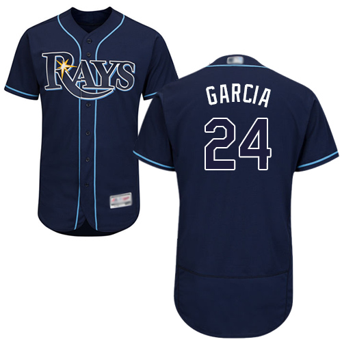 Rays #24 Avisail Garcia Dark Blue Flexbase Authentic Collection Stitched Baseball Jersey