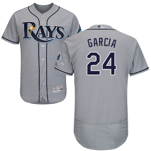 Rays #24 Avisail Garcia Grey Flexbase Authentic Collection Stitched Baseball Jersey