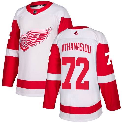 Red Wings #72 Andreas Athanasiou White Road Authentic Stitched Hockey Jersey