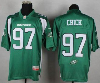 Roughriders #97 John Chick Green Stitched CFL Jersey