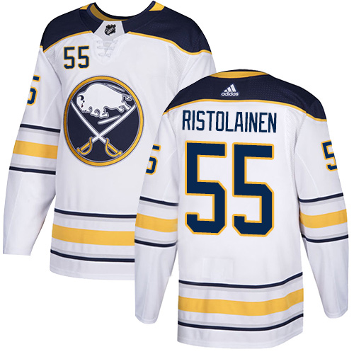 Sabres #55 Rasmus Ristolainen White Road Authentic Stitched Hockey Jersey