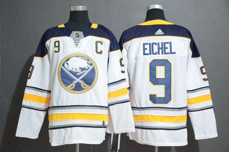 Sabres 9 Jack Eichel White Adidas Jersey