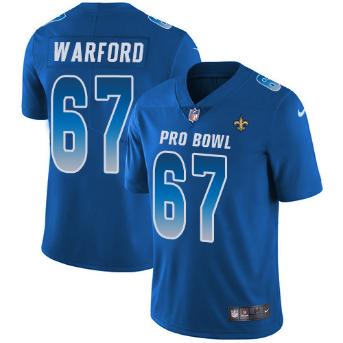 Saints #67 Larry Warford Royal Youth Stitched Football Limited NFC 2019 Pro Bowl Jersey