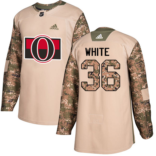 Senators #36 Colin White Camo Authentic 2017 Veterans Day Stitched Hockey Jersey