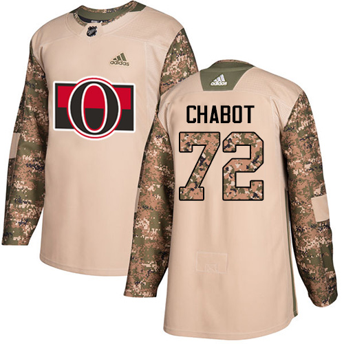 Senators #72 Thomas Chabot Camo Authentic 2017 Veterans Day Stitched Hockey Jersey