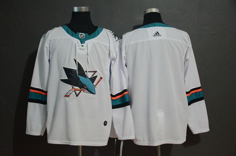Sharks Blank White Adidas Jersey