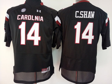 South Carolina Gamecocks 14 C.Shaw Black College Football Jersey