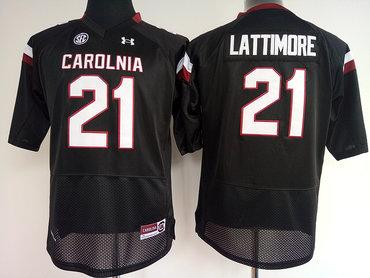 South Carolina Gamecocks 21 Marcus Lattimore Black College Football Jersey