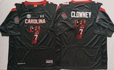 South Carolina Gamecocks 7 Jadeveon Clowney Black Portrait Number College Jersey