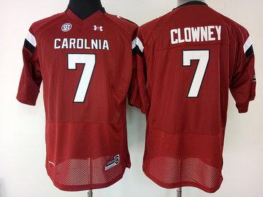 South Carolina Gamecocks 7 Jadeveon Clowney Red College Football Jersey