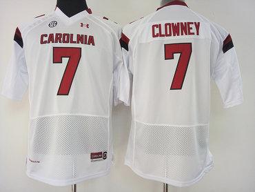 South Carolina Gamecocks 7 Jadeveon Clowney White College Football Jersey