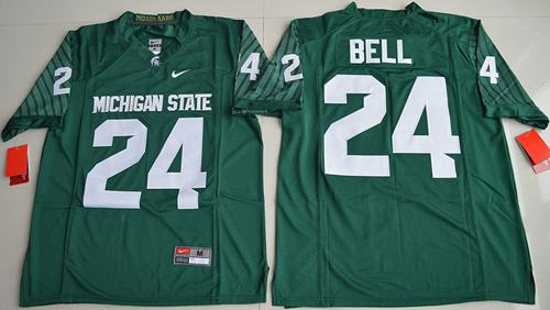 Spartans #24 Le'Veon Bell Green Limited Stitched NCAA Jersey