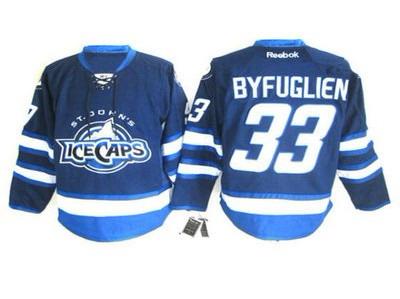 St. Johns IceCaps 33 Byfuglien blue jersey