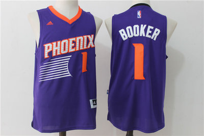 9cdd70afe38 Men s Phoenix Suns  1 Devin Booker adidas Orange Swingman climacool ...