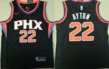 Suns 22 Deandre Ayton Black Nike Swingman Jersey(Without The Sponsor Logo)