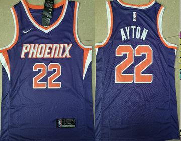 Suns 22 Deandre Ayton Purple Nike Swingman Jersey(Without The Sponsor Logo)
