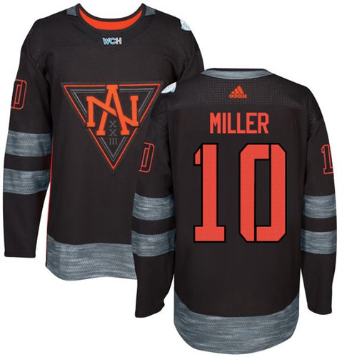 Team North America #10 J. T. Miller Black 2016 World Cup Stitched NHL Jersey Size M