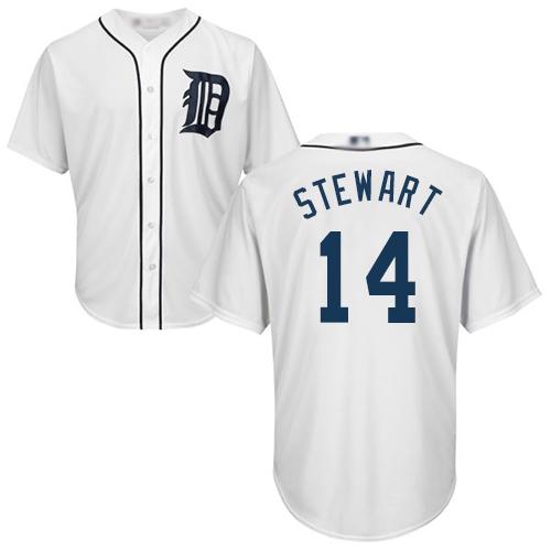 Tigers #14 Christin Stewart White New Cool Base Stitched Baseball Jersey