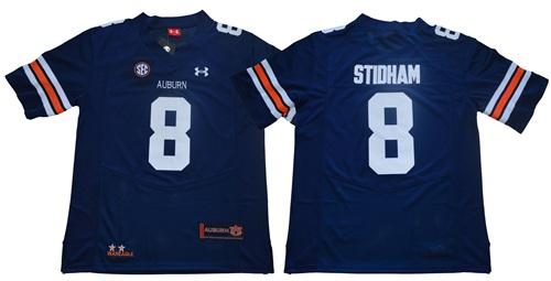 Tigers #8 Jarrett Stidham Blue Limited Stitched NCAA Jersey