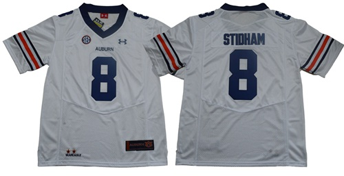 Tigers #8 Jarrett Stidham White Limited Stitched NCAA Jersey