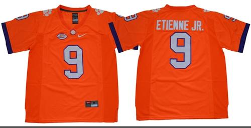 Tigers #9 Travis Etienne Jr. Orange Limited Stitched NCAA Jersey