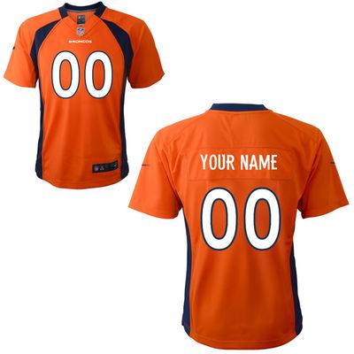 Toddlers Nike Denver Broncos Infant Customized Game Team Color Jersey
