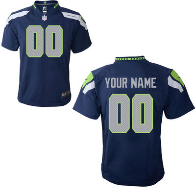 Toddlers Nike Seattle Seahawks Infant Customized Game Team Color Jersey