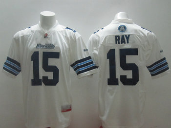 Toronto Argonauts Ray #15 White jerseys