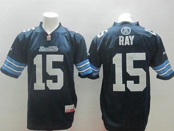 Toronto Argonauts Ray #15 blue jerseys