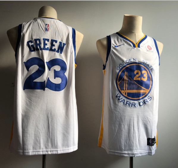 Warriors 23 Draymond Green White Nike Swingman Jersey
