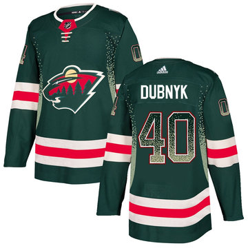 Wild 40 Devan Dubnyk Green Drift Fashion Adidas Jersey