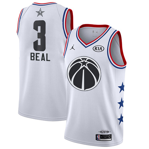 Wizards #3 Bradley Beal White Basketball Jordan Swingman 2019 All-Star Game Jersey