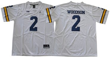 Wolverines #2 Charles Woodson White Jordan Brand Limited Stitched NCAA Jersey