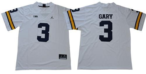 Wolverines #3 Rashan Gary White Jordan Brand Limited Stitched NCAA Jersey$49.00$22.50