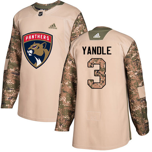 Youth Panthers #3 Keith Yandle Camo Authentic 2017 Veterans Day Stitched Youth Hockey Jersey