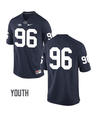 Youth Penn State Nittany Lions #96 Navy Jersey