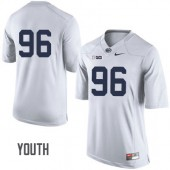 Youth Penn State Nittany Lions #96 White Jersey